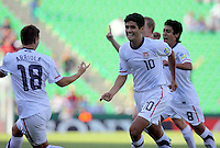 .Action photo of Alejandro Guido of USA, during game of the FIFA Under 17 World Cup game, held at  Torreon.