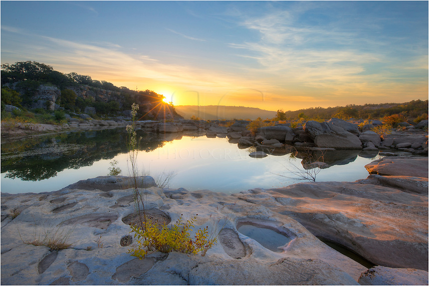 Just another sunrise in the Texas Hill Country. This photograph comes from Pedernales Falls State Park near the end of October.