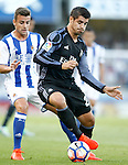 Real Sociedad's Yuri Berchiche (l) and Real Madrid's Alvaro Morata during La Liga match. August 21,2016. (ALTERPHOTOS/Acero)