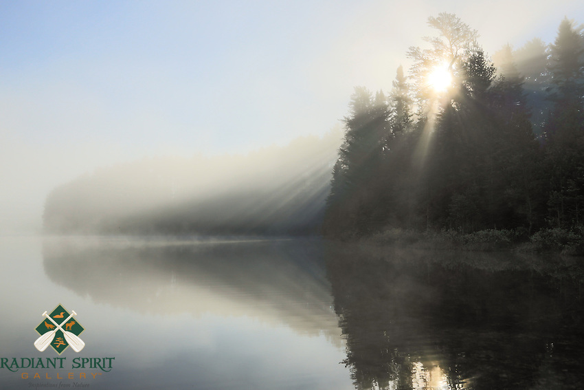 """Fog on Point Lake""<br />