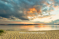 64795-01315 Sunset on South Bay, Lake Superior, Munising, Upper Peninsula, MI