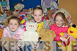 Caitlin O'Connell, Shania Costello and Carlise Caffrey looking at the teddies on sale at the Ballyspillane Resource Centre jumble sale on Saturday.