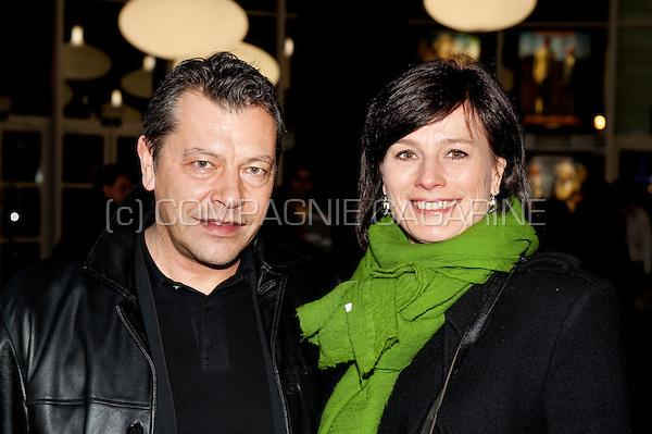 Birgit van Mol and her husband René Brouwer at the première of the movie Marieke Marieke at the Kinepolis in Brussels (Belgium, 20/01/2011)