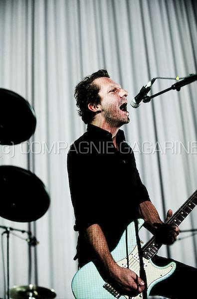 Concert of the Belgian rock band dEUS in the Lotto Arena, Antwerp (Belgium, 16/12/2011)
