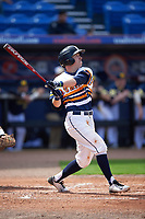 Canisius College Golden Griffins second baseman Jake Lumley (3) at bat during the second game of a doubleheader against the Michigan Wolverines on February 20, 2016 at Tradition Field in St. Lucie, Florida.  Michigan defeated Canisius 3-0.  (Mike Janes/Four Seam Images)