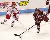 Clayton Keller (BU - 19), Steven Iacobellis (UMass - 16) - The Boston University Terriers defeated the University of Massachusetts Minutemen 3-1 on Friday, February 3, 2017, at Agganis Arena in Boston, Massachusetts.The Boston University Terriers defeated the visiting University of Massachusetts Amherst Minutemen 3-1 on Friday, February 3, 2017, at Agganis Arena in Boston, MA.