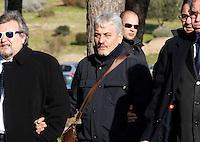 Salvatore Daniele  partecipa ai funerali  di  Pino Daniele al santuario del divino amore di Roma