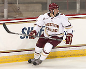 Chris Calnan (BC - 11) - The Boston College Eagles defeated the visiting University of New Brunswick Varsity Reds 6-4 in an exhibition game on Saturday, October 4, 2014, at Kelley Rink in Conte Forum in Chestnut Hill, Massachusetts.