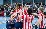 SCHIEDAM - NK reserveteams zaalhockey. Finale Tilburg D2-HDM D2 (1-3) .  Vreugde bij HDM na het behalen van de titel.   COPYRIGHT KOEN SUYK
