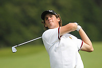 Thomas Pieters (Belgium) on the Final Day of the International European Amateur Championship 2012 at Carton House, 11/8/12...(Photo credit should read Jenny Matthews/Golffile)...