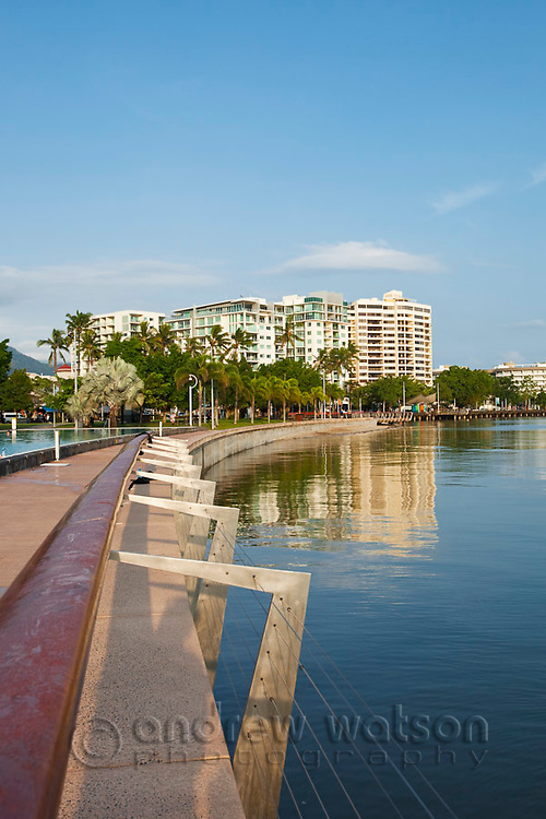 View along the Esplanade beside the Lagoon.  Cairns, Queensland, AUSTRALIA