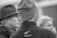 ESNZ HP Eventing Manager, Graeme Thom with Tim Price and ESNZ Team Vet, Christiana Ober. Team NZ watch: NZL-Megan Heath rides Camelot during the Second Day of Dressage. 2017 NED-Military Boekelo CCIO3* FEI Nation Cup Eventing. Friday 6 October. Copyright Photo: Libby Law Photography