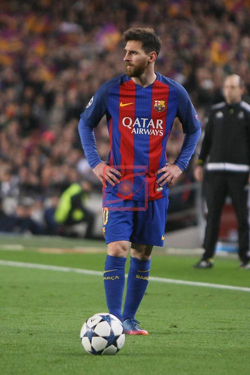 UEFA Champions League 2016/2017.<br /> Round of 16 2nd leg<br /> FC Barcelona vs Paris Saint-Germain: 6-1.<br /> Lionel Messi.