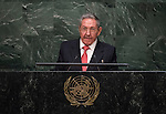 His Excellency Raúl Castro Ruz, President of the Republic of Cuba<br /> <br /> <br /> 6th plenary meeting High-level plenary meeting of the General Assembly (3rd meeting)