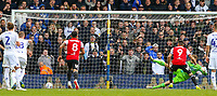 Brentford's Neal Maupay scores the opening goal from the penalty spot<br /> <br /> Photographer Alex Dodd/CameraSport<br /> <br /> The EFL Sky Bet Championship - Leeds United v Brentford - Saturday 6th October 2018 - Elland Road - Leeds<br /> <br /> World Copyright &copy; 2018 CameraSport. All rights reserved. 43 Linden Ave. Countesthorpe. Leicester. England. LE8 5PG - Tel: +44 (0) 116 277 4147 - admin@camerasport.com - www.camerasport.com