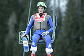 12th January 2018, Val di Fiemme, Fiemme Valley, Italy; FIS Nordic Combined World Cup, Mens Gundersen; Ben Berend (USA) on the chair to the top