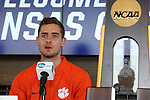 12 December 2015: Clemson's Paul Clowes (ENG). The NCAA held a press conference at Three Points at the Sporting Kansas City offices one day before the Clemson University Tigers play the Stanford University Cardinal in a 2015 NCAA Division I Men's College Cup championship match.