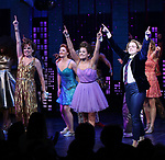 "Beth Leavel, Isabelle McCalla and Caitlin Kinnunen during the Broadway Opening Night Curtain Call of ""The Prom"" at The Longacre Theatre on November 15, 2018 in New York City."
