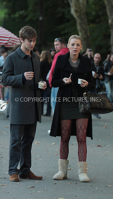 WWW.ACEPIXS.COM . . . . .  ....October 5 2009, New York City....Actress Blake Lively and Chace Crawford on the Central Park set of the TV show 'Gossip Girl' on October 5 2009 in New York City....Please byline: AJ Sokalner - ACEPIXS.COM.... *** ***..Ace Pictures, Inc:  ..(212) 243-8787 or (646) 769 0430..e-mail: picturedesk@acepixs.com..web: http://www.acepixs.com