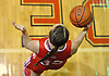 Colleen Conway #32 of St. John the Baptist looks to make an inbounds pass during the CHSAA varsity girls basketball Class B state semifinals against host Monsignor McClancy High School in East Elmhurst, NY on Friday, Mar. 11, 2016. McClancy won by a score of 63-49.