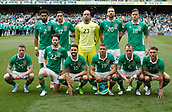 June 4th 2017, Aviva Stadium, Dublin, Ireland; International football friendly, Republic of Ireland versus Uruguay; Republic of Ireland starting line up for the match against Uruguay