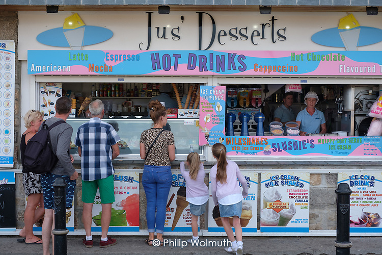 Jus' Desserts refreshment store, St.Ives, Cornwall.