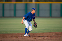 AZL Cubs 1 shortstop Clayton Daniel (25) during an Arizona League game against the AZL Padres 1 at Sloan Park on July 5, 2018 in Mesa, Arizona. The AZL Cubs 1 defeated the AZL Padres 1 3-1. (Zachary Lucy/Four Seam Images)