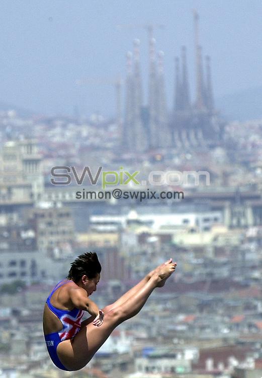 Pix: Matthew Lewis/SWpix.com. Diving. 10th Fina World Championships 2003, Barcelona. 15/07/2003...COPYRIGHT PICTURE>>SIMON WILKINSON>>01943 436649>>..Great Britain's Karen Smith.