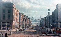 London: Regent St. View from the Regent Circus Picadilly, looking south to Carleton House, 1822.