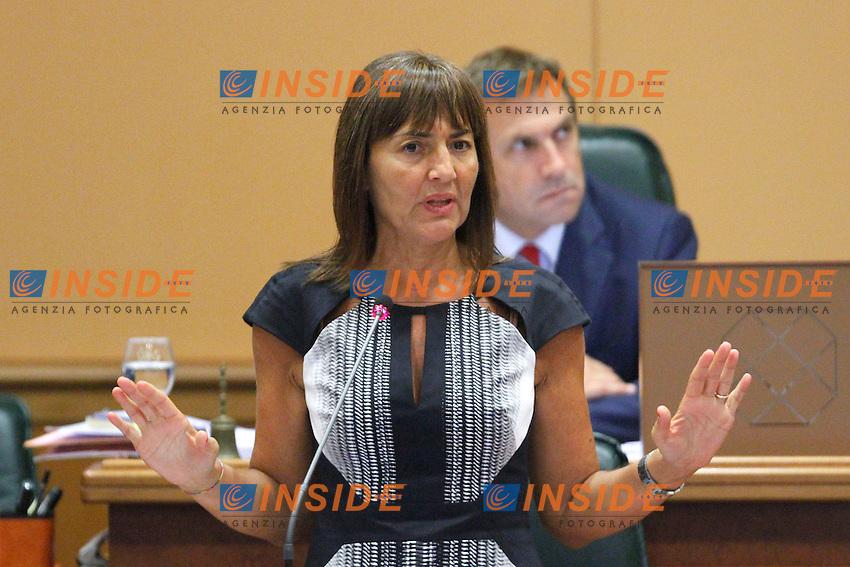 Ranata Polverini.Roma 21/09/2012 Convocazione ordinaria del Consiglio Regionale della Regione Lazio.Photo Samantha Zucchi Insidefoto