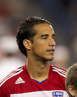 FC Dallas midfielder Daniel Cruz (7). In a Major League Soccer (MLS) match, the New England Revolution defeated FC Dallas, 2-0, at Gillette Stadium on September 10, 2011.