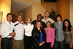 Lisa Edmonds, Jennifer (GO PINK), Steve, Ashley with Kurt McKinney, Daniel Cosgrove, Frank Dicopoulos, Lawrence Saint-Victor, Zack Conroy, Daniel Cosgrove - Guiding Light's actors at a private dinner on top of Mount Washington, near Pittsburgh, PA on the night before October 1, 2009 in the Pittsburgh, PA area as the actors GO PINK with Panera Bread as they visit many of the Panera Bread locations the next day. Proceeds from pink ribbon bagel sales will benefit the Young Women's Breast Cancer Awareness Foundation. (Photo by Sue Coflin/Max Photos)
