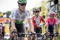 Suisse National Champion Sebastien Reichenbach (SUI/Groupama - FDJ) crossing the finish line in Brussels<br /> <br /> Stage 1: Brussels to Brussels(BEL/192km) 106th Tour de France 2019 (2.UWT)<br /> <br /> ©kramon