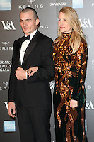 Rupert Friend and Aimee Mullins arriving for the Alexander McQueen: Savage Beauty Fashion Gala at the V&A, London. 12/03/2015 Picture by: Alexandra Glen / Featureflash