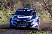 10th February 2019, Galway, Ireland; Galway International Rally; Meirion Evans and Jonathan Jackson (Hyundai i20 R5) lie in 12th place after 3 stages