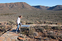 Karoo Fossil Trail. Outdoor museum. Karoo National Park. South Africa.