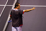 BANGKOK, THAILAND - OCTOBER 02:  Guillermo Garcia-Lopez of Spain celebrates match point against compatriot Rafael Nadal during the Day 8 of the PTT Thailand Open at Impact Arena on October 2, 2010 in Bangkok, Thailand. Photo by Victor Fraile / The Power of Sport Images