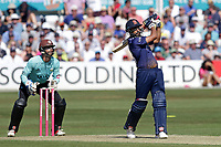 Ravi Bopara hits 6 runs for Essex as Ben Foakes looks on from behind the stumps during Essex Eagles vs Surrey, Vitality Blast T20 Cricket at The Cloudfm County Ground on 5th August 2018