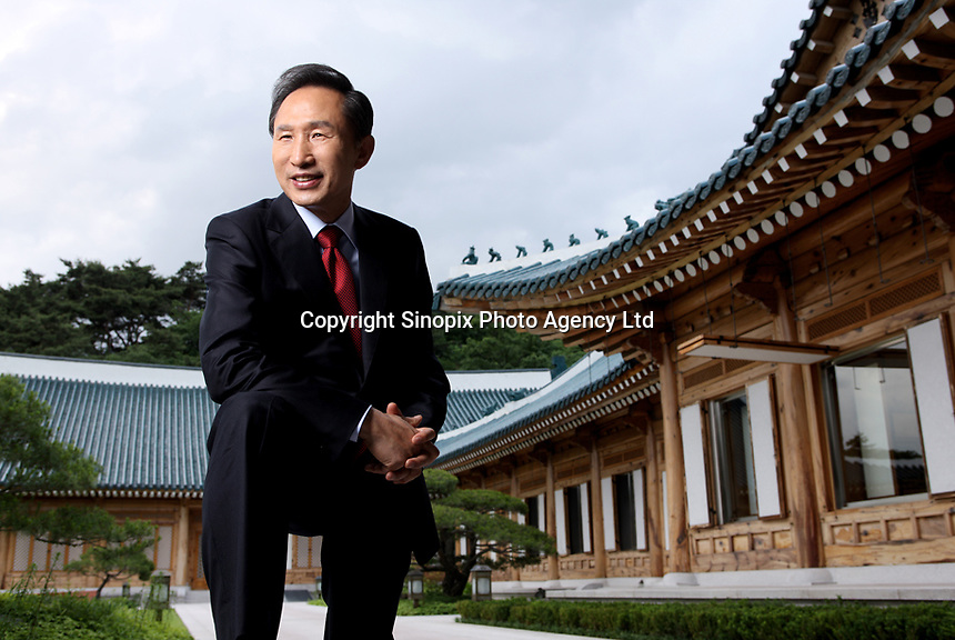 Lee Myung-bak, President of Korea.<br /> <br /> Photo portfolio of Kim  / Sinopix