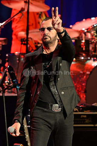 FORT LAUDERDALE FL - OCTOBER 21 : Ringo Starr performs at The Broward Center For The Performing Arts on October 21, 2014 in Fort Lauderdale, Florida. Credit: mpi04/MediaPunch