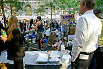 Food distribution area at the Occupy Wall Street Protest in New York City October 6, 2011.