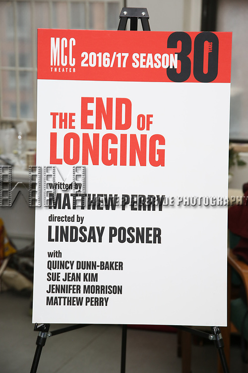 'The End Of Longing' cast photocall at Roundabout Rehearsal Studio on April 20, 2017 in New York City.