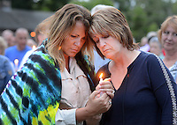 Vigil in Support of Orlando Massacre Victims in New Hope, Pennsylvania