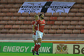 12th September 2017, Oakwell, Barnsley, England; Carabao Cup, second round, Barnsley versus Derby County; Adam Jackson of Barnsley FC celebrates his goal