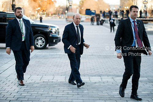 US Secretary of Commerce Wilbur Ross arrives at the US Capitol prior to the service for former President George H. W. Bush in Washington, DC, USA, 03 December 2018. Bush will lie in state in the Capitol Rotunda before his state funeral at the Washington National Cathedral 05 December. George H.W. Bush, the 41st President of the United States (1989-1993), died at the age of 94 on 30 November 2018 at his home in Texas.