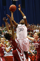 SAN ANTONIO, TX - APRIL 4:  Nnemkadi Ogwumike of the Stanford Cardinal during Stanford's 73-66 win over Oklahoma in the Final Four semi-finals at the Alamo Dome on April 4, 2010 in San Antonio, Texas.