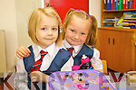 Maja Amborska and Kornelia Wycisekiewicz  pictured on their first day of school at Balloonagh primary, Tralee on Thursday.