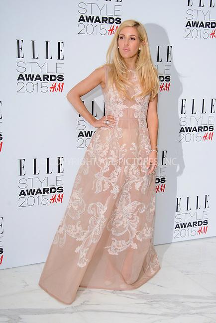 WWW.ACEPIXS.COM<br /> <br /> February 24 2015, London<br /> <br /> Ellie Goulding arriving at the ELLE style awards 2015 at the Walkie Talkie Tower on February 24 2015 in London<br /> <br /> By Line: Famous/ACE Pictures<br /> <br /> <br /> ACE Pictures, Inc.<br /> tel: 646 769 0430<br /> Email: info@acepixs.com<br /> www.acepixs.com