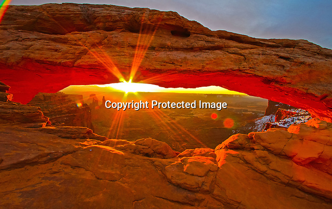 Mesa Arch Sunrise Canyonlands National Park outside Moab, Utah. - 3/13/2010<br />