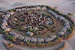 Kenya, near Amboseli, a traditional Maasai manyatta (village)